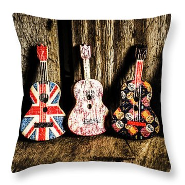 7 Continents Of Sounds Throw Pillow