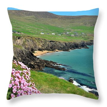 Throw Pillow featuring the photograph Coumeenole by Barbara Walsh
