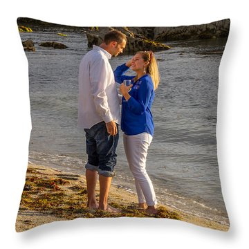 7 Cropped Throw Pillow