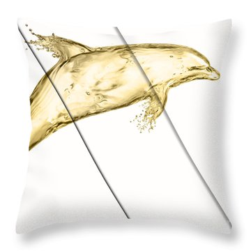 Dolphin Collection Throw Pillow by Marvin Blaine