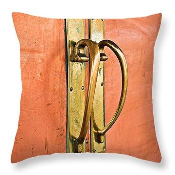 Door Handle Throw Pillow