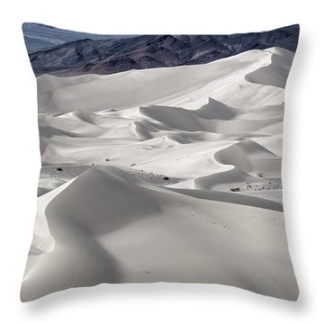 Throw Pillow featuring the photograph Dumont Dunes 8 by Jim Thompson