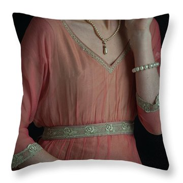 Edwardian Woman  Throw Pillow