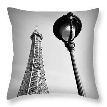 Throw Pillow featuring the photograph Eiffel Tower by Chevy Fleet