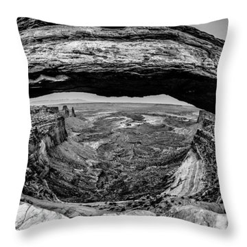 famous Mesa Arch in Canyonlands National Park Utah  USA Throw Pillow by Alex Grichenko