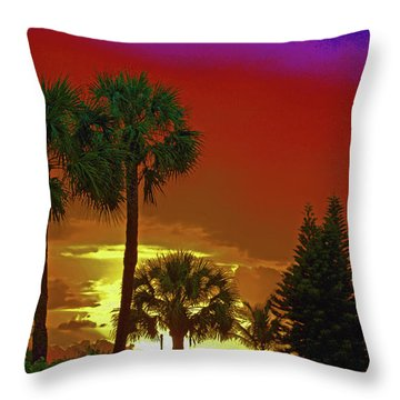 Throw Pillow featuring the digital art 7- Holiday by Joseph Keane