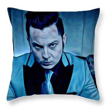 Jack White Collection Throw Pillow by Marvin Blaine