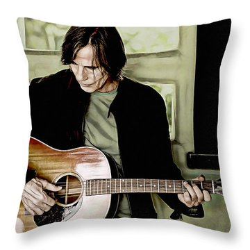 Jackson Browne Collection Throw Pillow