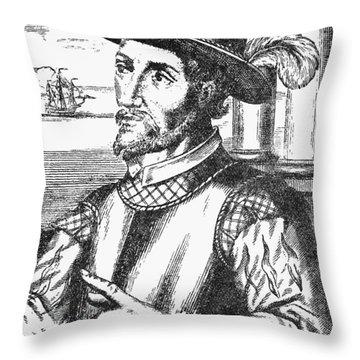 Juan Ponce De Leon Throw Pillow by Granger