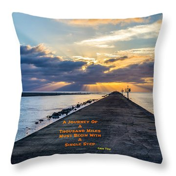 Lao Tzu Quote Throw Pillow