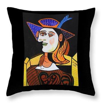 Hair Net  Picasso Throw Pillow