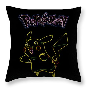 Pokemon - Pikachu Throw Pillow by Kyle West