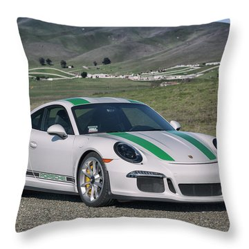 #porsche #911r #print Throw Pillow