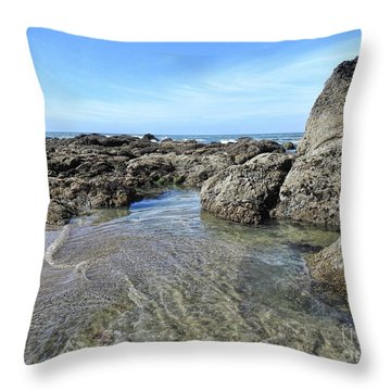 Throw Pillow featuring the photograph Roads End by Peggy Hughes