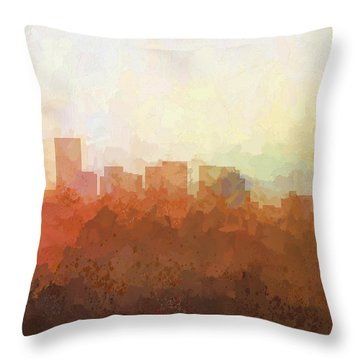 Throw Pillow featuring the digital art Salem Oregon Skyline by Marlene Watson