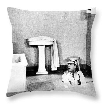 Silent Still: Bathing Throw Pillow by Granger