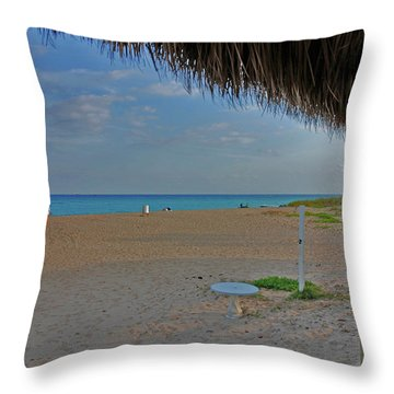 Throw Pillow featuring the photograph 7- Southern Beach by Joseph Keane