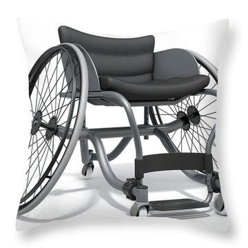 Sports Wheelchair Throw Pillow
