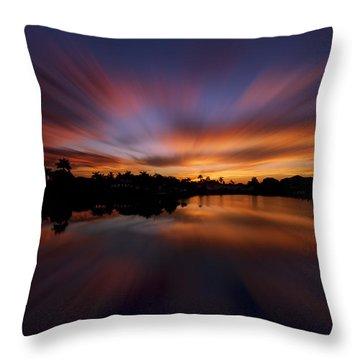 Sunrise At Naples, Florida Throw Pillow