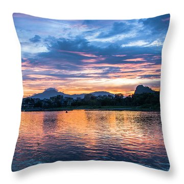 Throw Pillow featuring the photograph Sunrise Scenery In The Morning by Carl Ning