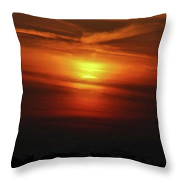 Throw Pillow featuring the photograph 7- Sunset by Joseph Keane