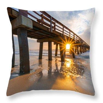 Sunset Naples Pier, Florida Throw Pillow