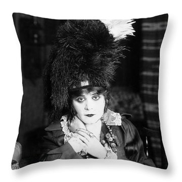 Theda Bara (1885-1955) Throw Pillow