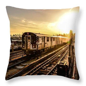 Rail Transportation Throw Pillows