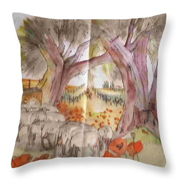 Trees Trees Trees Album Throw Pillow