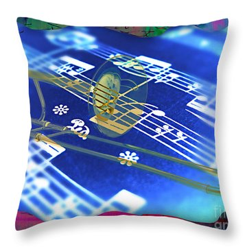Trombone Collection Throw Pillow