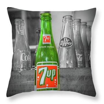 7 Up Throw Pillow