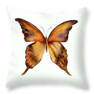 7 Yellow Gorgon Butterfly Throw Pillow