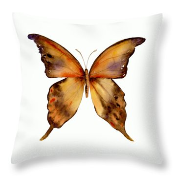7 Yellow Gorgon Butterfly Throw Pillow by Amy Kirkpatrick