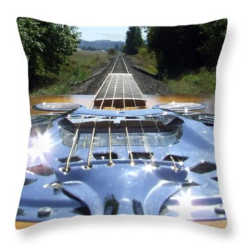 Your Band Name Here Lp Cover Art Throw Pillow