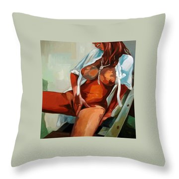 70 Ths Girl Throw Pillow by Carmen Stanescu Kutzelnig