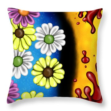 70s Background Throw Pillow