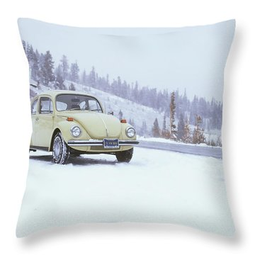 71 Vw Bug Throw Pillow
