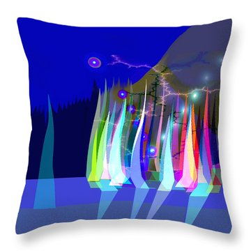 720 - Sailing A Throw Pillow