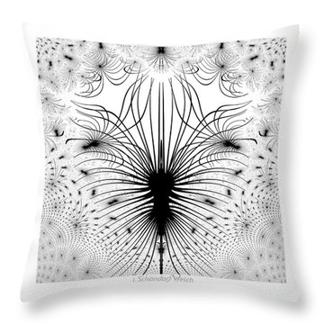 725 - The Spider Bug   Throw Pillow by Irmgard Schoendorf Welch