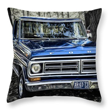 Throw Pillow featuring the photograph 73 Ford Pickup by Brad Allen Fine Art