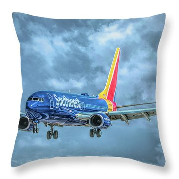 Throw Pillow featuring the photograph 737 by Guy Whiteley