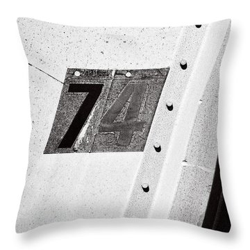74 ...numerical Throw Pillow by Tom Druin