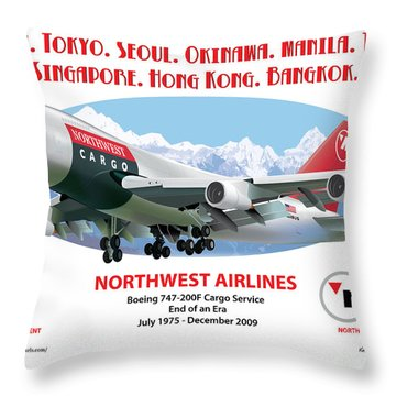747 Throw Pillow