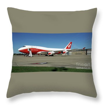 747 Supertanker Throw Pillow