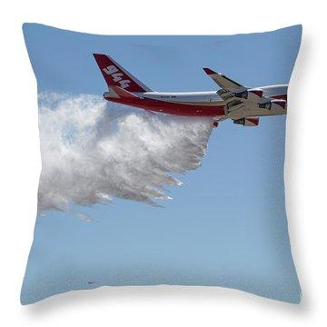 747 Supertanker Drop Throw Pillow