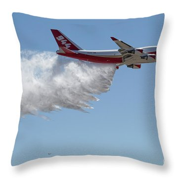 747 Supertanker Drop Throw Pillow