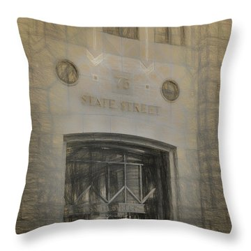 75 State Street Throw Pillow