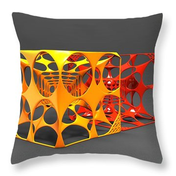 .75 Voronoi Cubes Throw Pillow