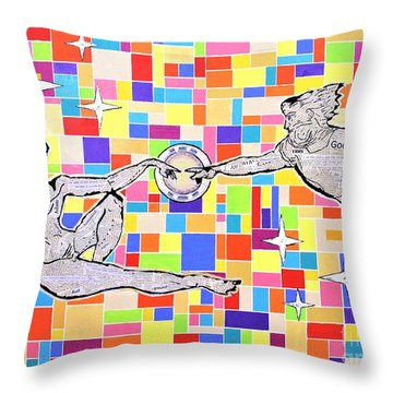 76 Aka The Gift Throw Pillow by Jeremy Aiyadurai