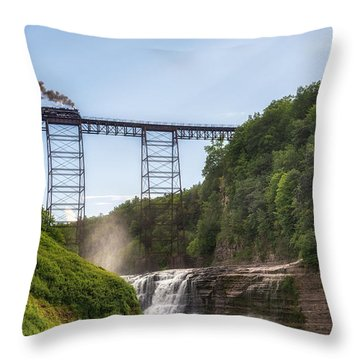 Throw Pillow featuring the photograph 765 Over Upper Falls by Mark Papke